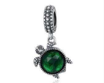 Animal Turtle's Adventure Dangle Beads charms 100% 925 Sterling Silver fit for Authentic pandora and european bracelets