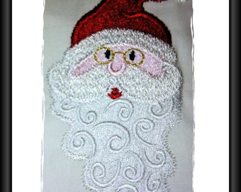 Santa Filled  Design for Machine Embroidery 4 x 4inch/100x100mm hoop.