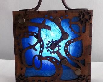 Steampunk Accessory, Lantern. Lamp, Alternative Gift, Present, Cadeau Geschenk, Cosplay Costume, Alternative Gift for Him, Larp Utility Belt