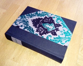 Ulysses, James Joyce 1958 Upcycled/rebound. Black and Green Flocked 1/2 binding