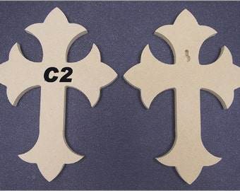 10 6 x 9 x 1/4 Inch Wooden Cross made from MDF, You choose 10 from 24 crosses. Free Shipping. 9-14