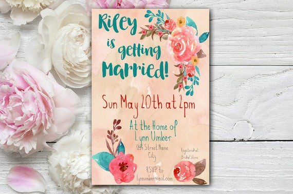 Florence Floral Bridal Shower Invitation