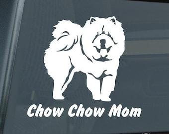 Chow Chow Mom Die Cut Vinyl Sticker v2 - 525
