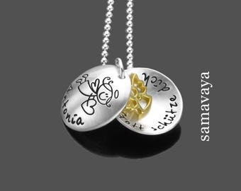 Christening necklace engraved God SHOOTER you blessings Messenger 925 Silver necklace children's jewellery gift guardian angel