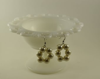 Earrings handcrafted Pearl Sextet
