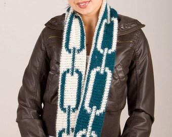 Crochet Pattern-- Infinity Chain Scarf --Crochet Pattern