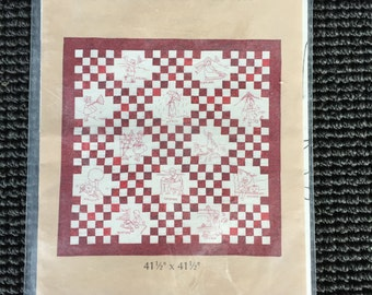 Cute Redwork Calendar Monthly Designs  Stitchery Embroidery Pattern Baby Quilt