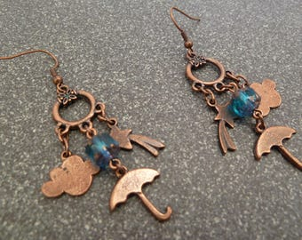 "Earrings ""singing in the rain"""