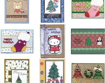 CHRISTMAS Greeting Card - You Choose Design - Handmade A2 size with Envelope