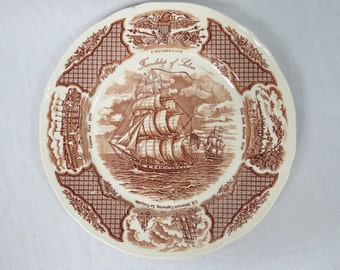 Vintage Alfred Meakin Fair Winds Friendship of Salem Collector's Plate  SP-2