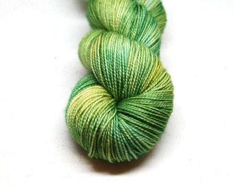 "Fingering Weight, ""Fool in the Rain"" Merino Wool Superwash Yarn, 4 oz, machine washable yarn"