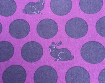 Tula Pink Foxfield Hoppy Dot in Dusk colorway Yardage
