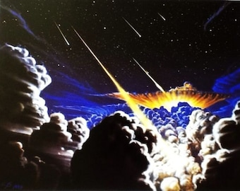 Space print - Night of the Comets - by Kim Poor