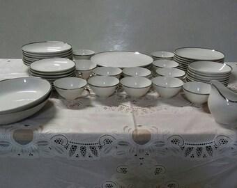 "Vintage Harmony House "" Moderne"" Fine China dinnerware set"