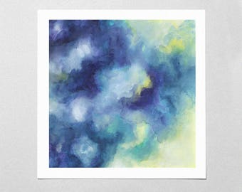 Fine Art Giclée Print - Cloud Watercolor - Abstract - Sky