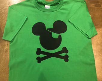 Personalized Mickey Mouse Disney Pirate Toddler Shirt