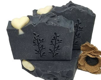 Activated Charcoal Soap/Natural Homemade Soap/Homemade Luxury Soap/Lush Bath Products/Artisan Soap/Gift For Her/VeganSoap/Flat Rate Shipping