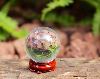 Glass quartz crystal ball