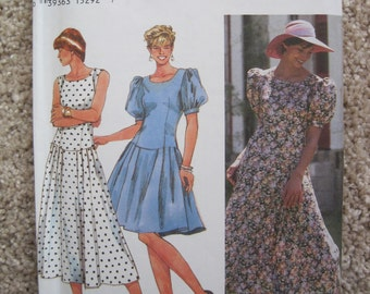 UNCUT Misses Dress - Simplicity Sewing Pattern 8967 - Vintage 1994
