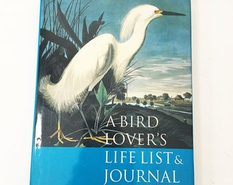 A Bird Lover's Life List and Journal. First Edition Audubon Vintage Book. Gift. Boston Museum of Fine Arts. Pristine condition!