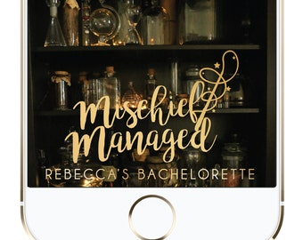 Personalized Mischief Managed Harry Potter Snapchat Geofilter