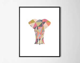 Printable Wall Art  |  Elephant