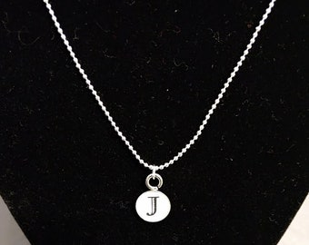 Delicate silver personalized initial pendant necklace