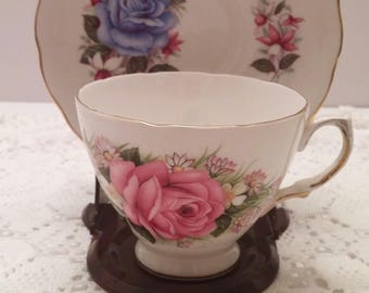 Royal Vale Ridgway Roses Tea Cup and Saucer