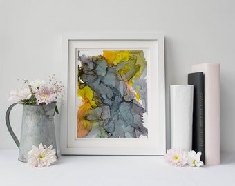 Digital Art Print | Abstract Art | Instant Download | Wall Decor | Alcohol Ink Art | Printable Art | Seascape |