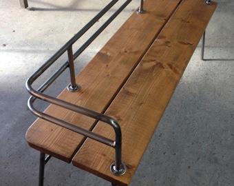 Modern Industrial Indoor Outdoor Bench