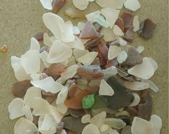 Genuine surf tumbled AUTHENTIC sea glass beach glass. 1 lb