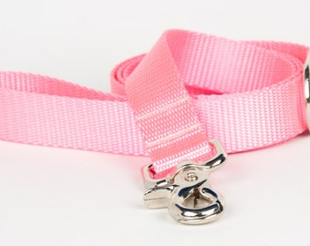 Crew LaLa™ Pretty Pink Naked Webbing Dog Leash