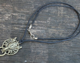 Wolf Necklace,Fantasy Cord Necklace,Choker Necklace,Wolf Choker Necklace,Man,Spiritual,Men Necklace,Ethnic necklace,Custom Made Any Size