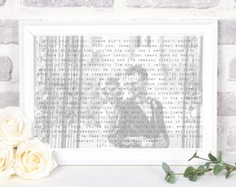 custom wedding vows print, printed Wedding vows gifts, wedding vows wall art, gift for groom on wedding day gift ideas, gift for bride,PRINT