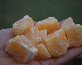 Orange Calcite  - Raw Calcite - Healing Crystal - metaphysical - Chakra - Calcite Cluster- Ahimsa