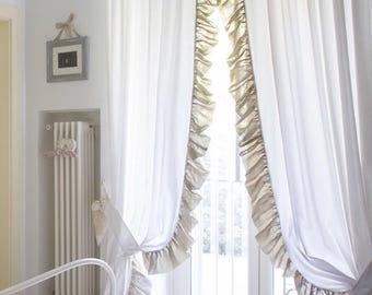 Couple curtains cotton and linen