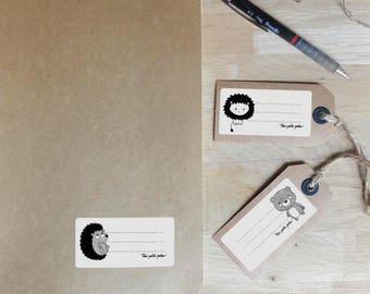 Write-on labels - providing school children - three young boys