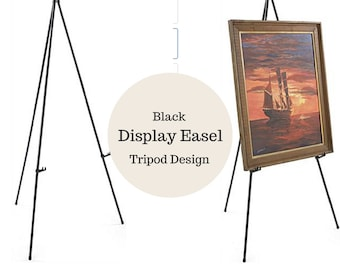 Easel-Chalkboard stand-Tripod easel-Wedding easel-Wedding stand-Display easel-Wedding decor-Large easel-Sign holder-Easel for wedding sign