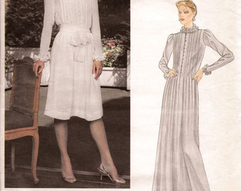 Vogue American Designers Albert Nipon 2641 Dress Sewing Pattern Size 14 Bust 36
