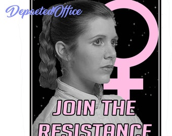 Join the resistance leia sticker