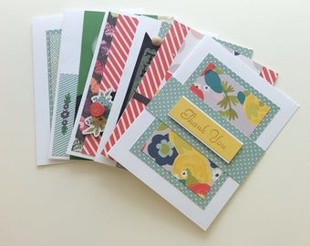 Handmade Card Sale /  10 cards for 25 / FREE SHIPPING / Full size no duplicates / Free Custom Message