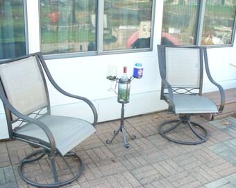 2-Glass single bottle outdoor wine holder