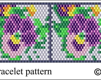 PATTERN ONLY - Violets Peyote Pattern