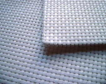 Cross stitch canvas, embroidery canvas, 6 count cross stitch canvas fabric, UK embroidery supplies, binca fabric cream and white
