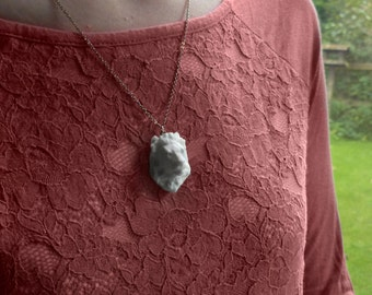 Lion Head Pendant Necklace, 3D Printed, Unique jewelry