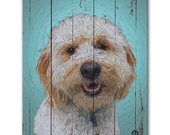 """8"""" X 10"""" Custom Pet Portrait Canvas Wrap (Rustic Style)"""