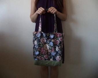 Floral Print tote bag