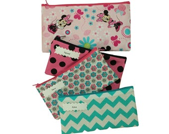 Kids Cash Envelope Wallet, Kids Cash Budget System, Give, Save, Spend -Minnie Floral- for use with the Dave Ramsey System, READY to SHIP