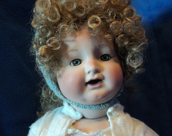 K star R Simon Halbig 126 porcelain reproduction doll with composition body 27 inches tall
