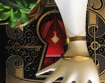 Set of 2 Vintage Brass Moroccan Cuff Bracelets, Stackable Bracelets, Bohemian, Middle-Eastern Jewelry, Stocking Stuffer